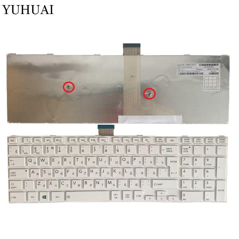 NOUVEAU pour Toshiba satellite l50-a s50 s55 l70 l75 c70 c75 RU Blanc clavier Russe