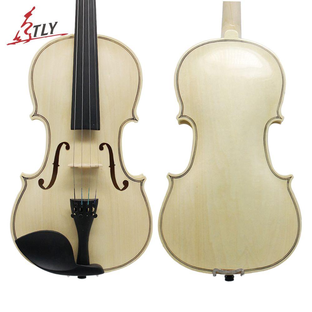 TONGLING Log Color Acoustic Violin 4/4 3/4 1/2 1/4 1/8 for Beginner Students w/ Case Bow Rosin Shoulder Rest Mute Strings