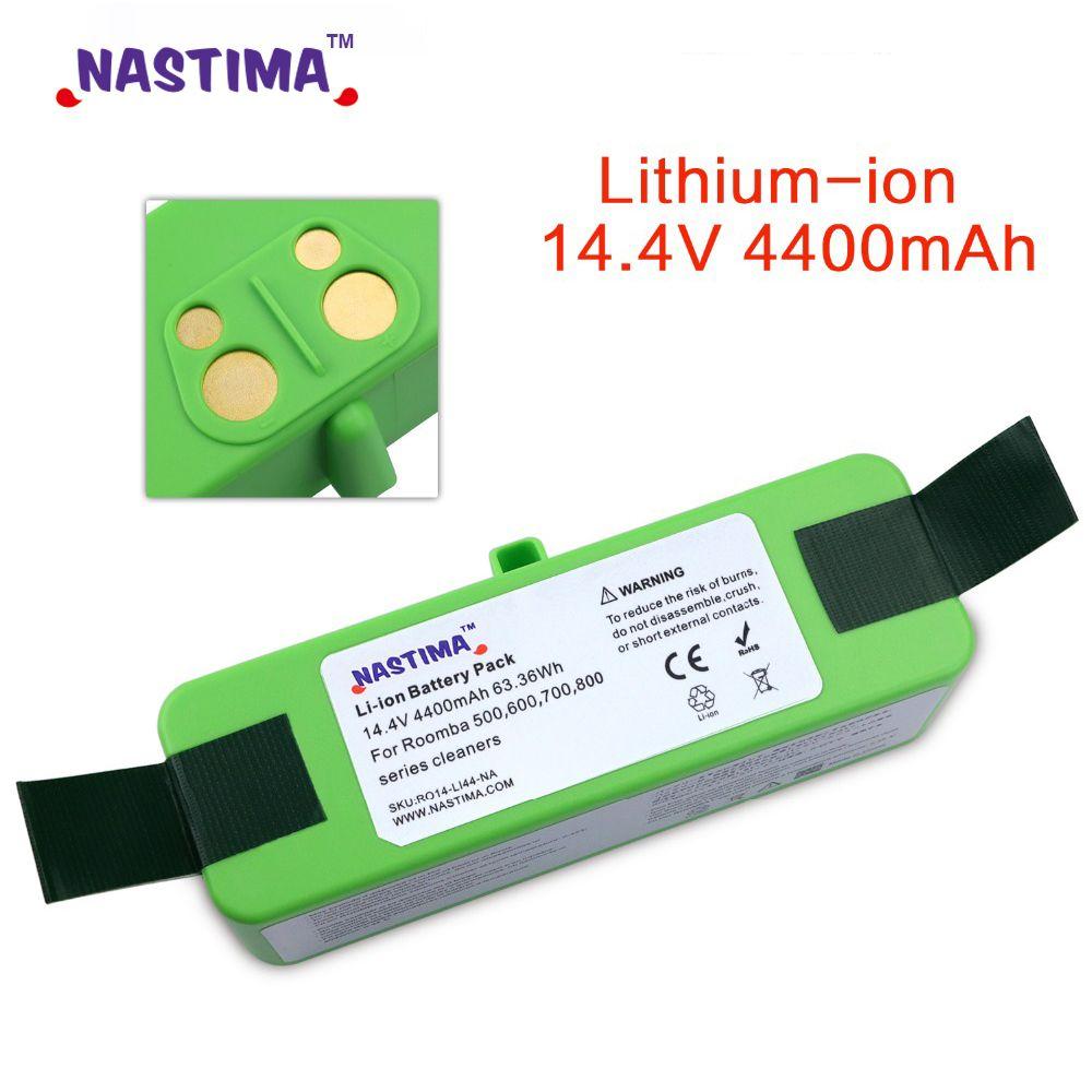 4400mAh Li-ion Batterie Compatible avec iRobot Roomba R3 500 600 700 800 900 Série 500 550 560 650 690 695 760 770 780 960 980