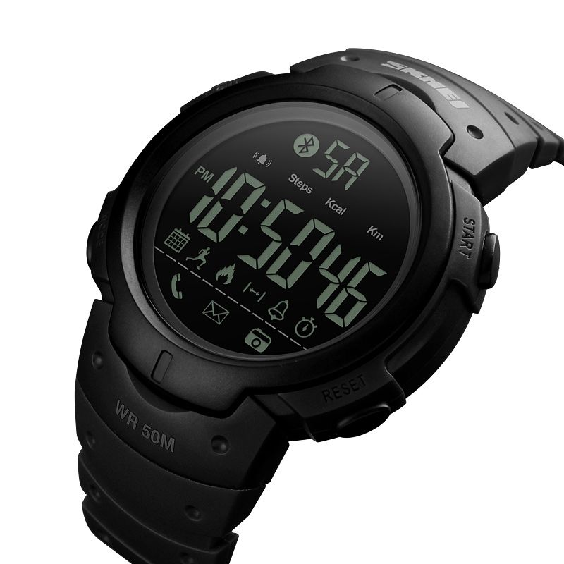 SKMEI Men Smart Sports Watch <font><b>Pedometer</b></font> Calories Digital Reminder Watches Fitness Bluetooth For IOS Android Wristwatches 1301