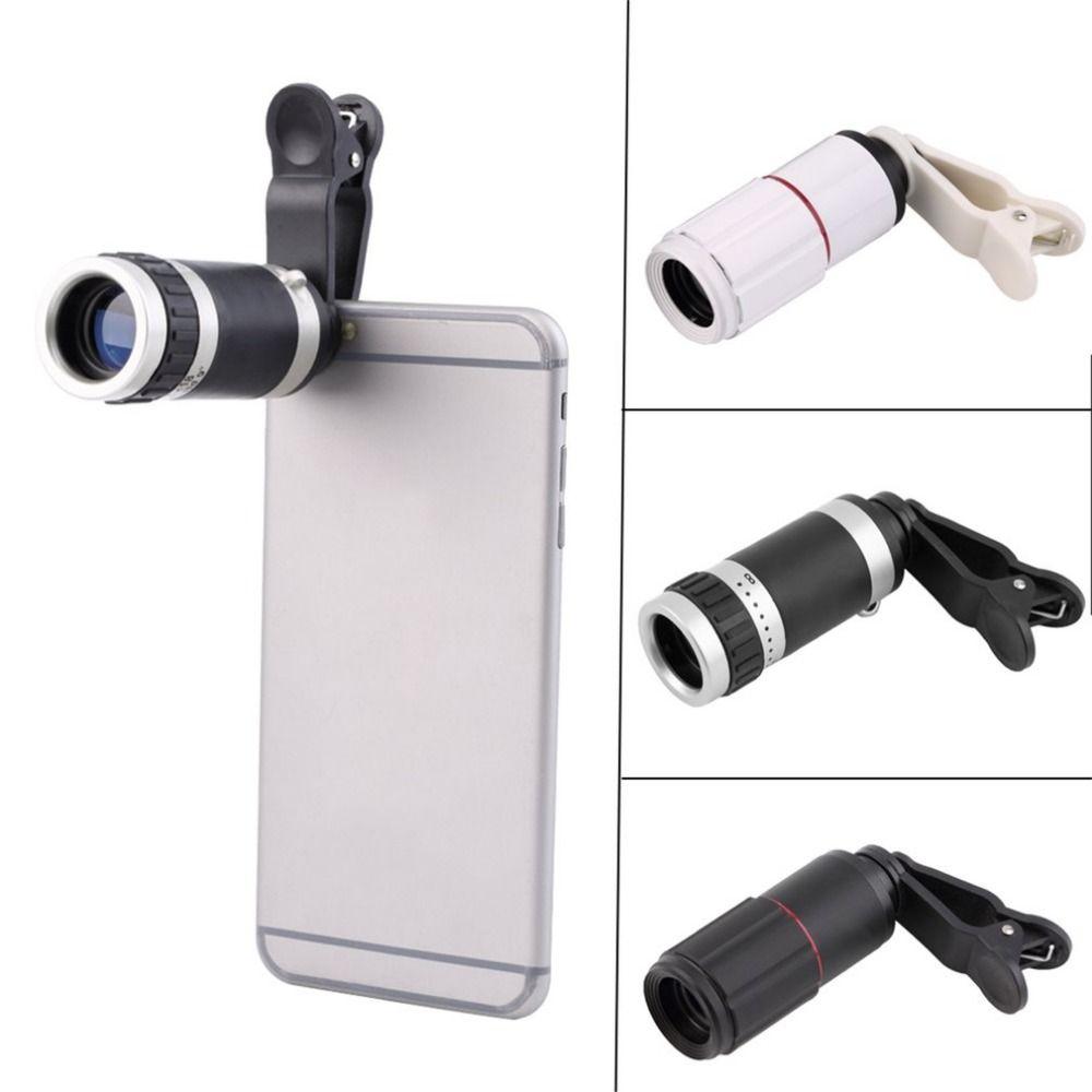 2017 Universel 8-18X Zoom téléphone objectif Optique Téléphone Mobile Télescope Téléobjectif Camera Lens Avec Clip Super Grand Angle 3 couleurs