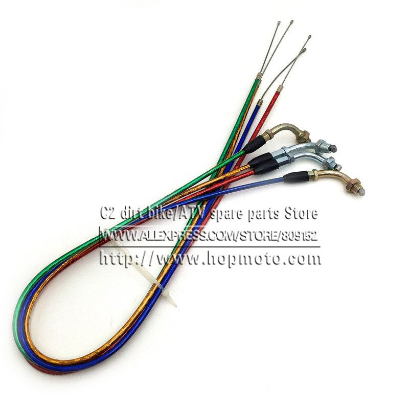 Throttle Clutch Cable line For Chinese Pit Dirt Motor Bike Motorcycle XR50 CRF50 CRF70 KLX 110 125 SSR TTR BBR Horizontal Engine