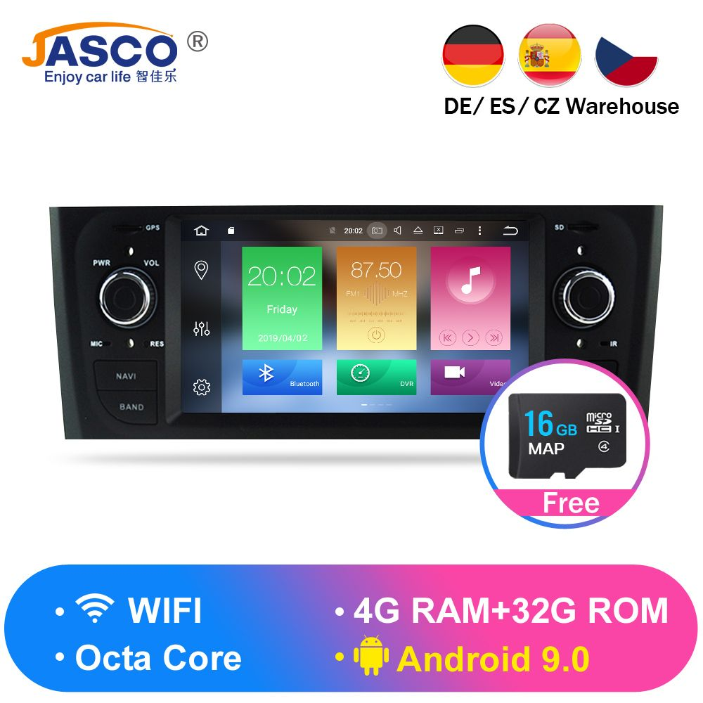 Android 9.0 4G RAM Auto DVD Stereo Steuergerät Für Fiat Grande Punto Linea 2007 2008 2009 2010 2011 2012 Auto radio GPS Navigation