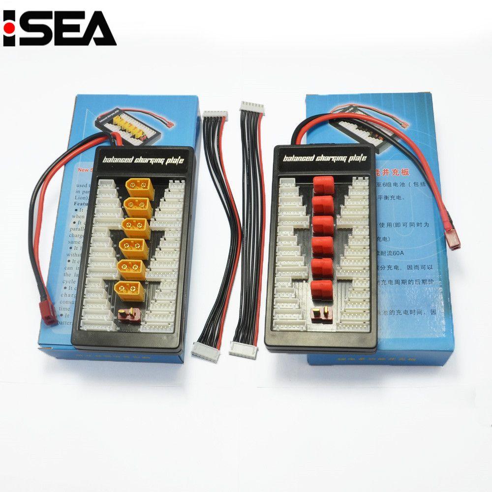 Carte de Charge t-plug Deans XT60 carte d'adaptateur de Charge parallèle 2-6 s plaque de chargeur de Batteries Lipo pour Imax B6 B6AC