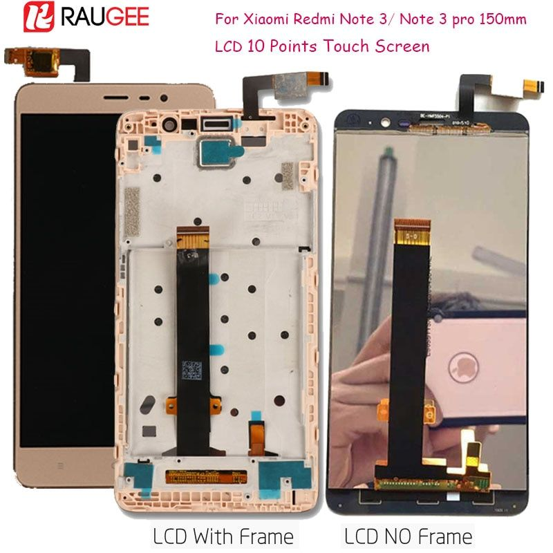Display For Xiaomi Redmi Note 3 LCD Touch Screen Display with Soft-key Backlight/Frame for Redmi Note 3 Pro/Prime Display 150mm