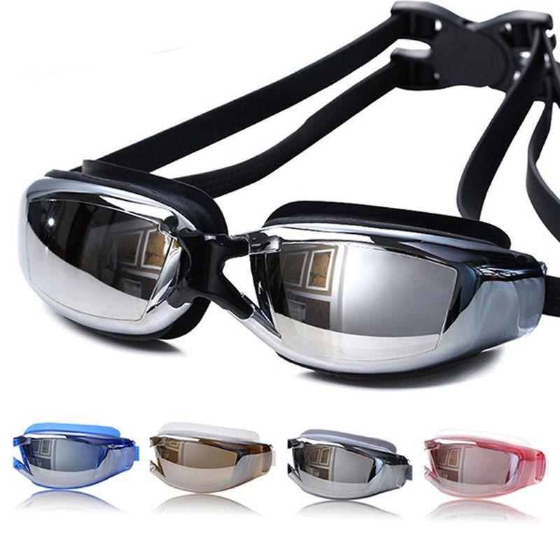 2017 Brand New Men Women Anti Fog UV Protection Swimming Goggles Professional Electroplate Waterproof Swim Glasses Adult Eyewear