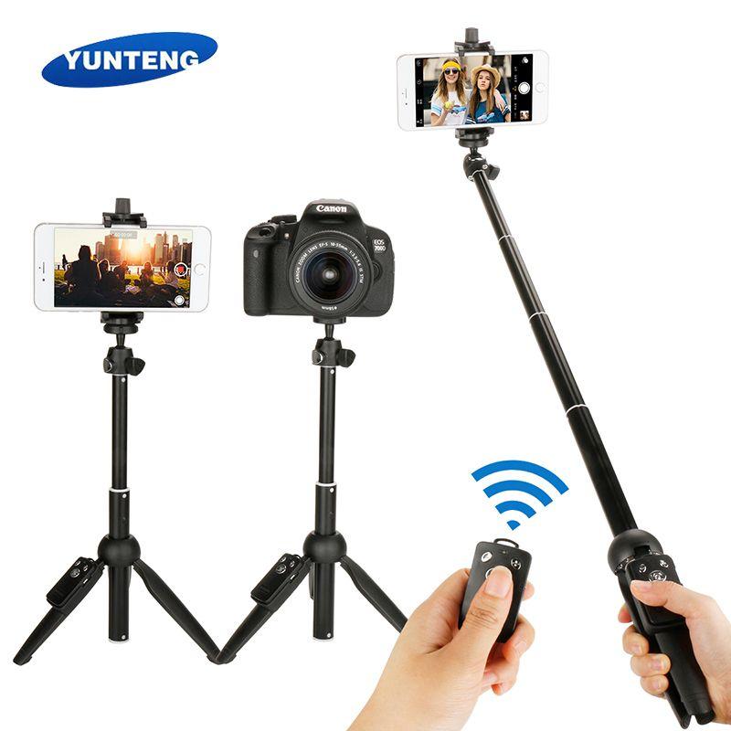 Mini Foldable 3 in 1 Selfie Stick Tripod Monopod Bluetooth Remote for iPhone 7 8 X Xiaomi Huawei Samsung Gopro Here 5 4 Yi Cam