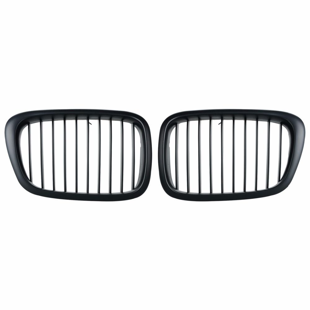 1Pair Car Style Matte Black Kidney Car Front Auto Car Racing Grille for BMW E39 5 Series 1998-2003 for Cars