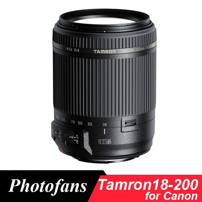 Tamron 18-200mm Lens for Canon 18-200 f/3.5-6.3 Di II VC( Image Stabilization) Lens for Canon 1300D 700D 760D 60D 70D T3i T5i