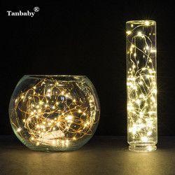 Tanbaby Natal Flasher 5 M 50 Twinkle LED String Lampu Berkedip Garland Pesta Pernikahan Luces Deco Lampu Peri 3XAA Baterai beroperasi