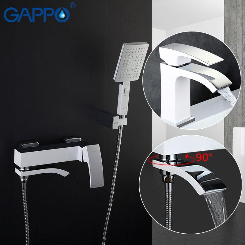GAPPO weiß Waschtischarmaturen becken waschbecken mischer bad dusche wasserhahn bad duschkopf wasserfall wasserhahn