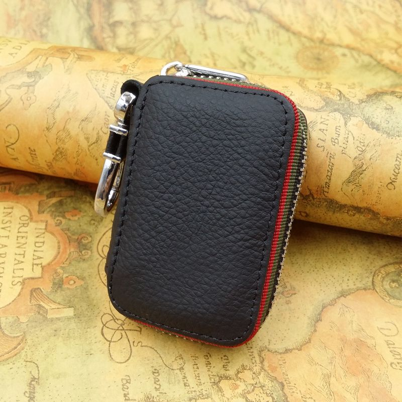 With Car Brand Genuine leather car key case wallet , fashion cow leather brand car key holder, Wholesale car key zipper bag hot