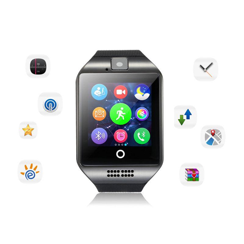 Bluetooth montre intelligente hommes Q18 avec écran tactile grande batterie Support TF carte Sim