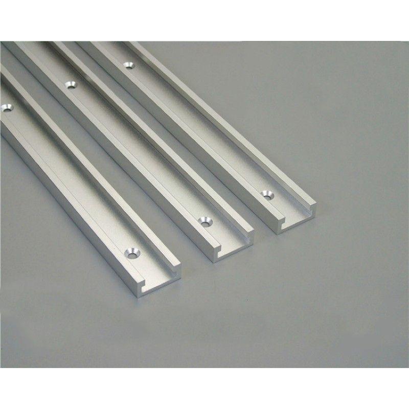 1 pièces t-track aluminium fente Miter rail gabarit pour routeur Table scies à ruban outil de travail du bois longueur 300/400/600/800mm