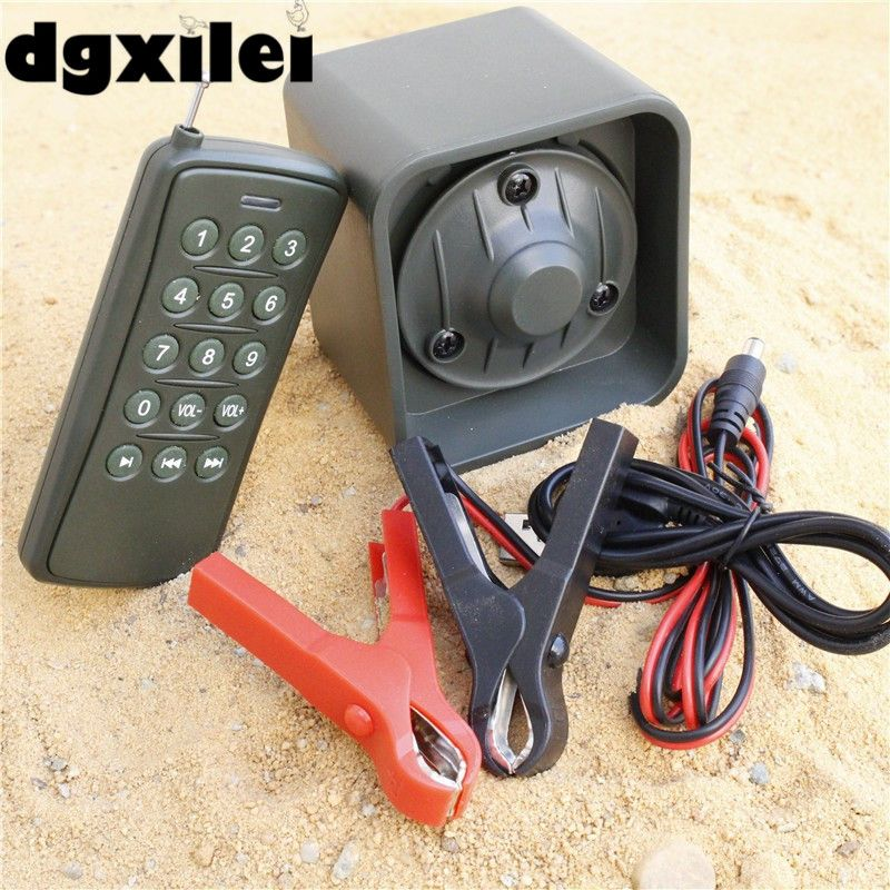 50W 150dB DC 12V Electronic Predator Bird Game Caller Hunting Decoy Calls Catcher MP3 Speaker