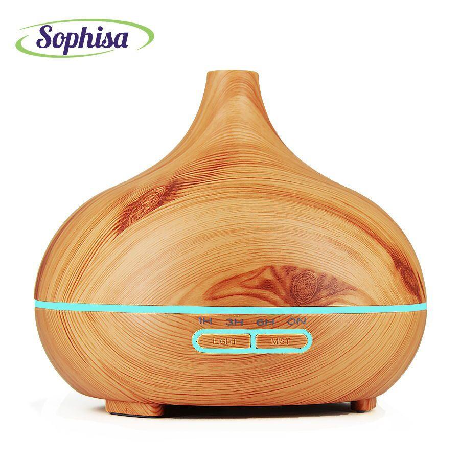 Sophisa 300 ml Brume Humidificateur Aroma Huile Essentielle Diffuseur d'air frais pour Home Office Chambre Salon frais air SP300C-Y