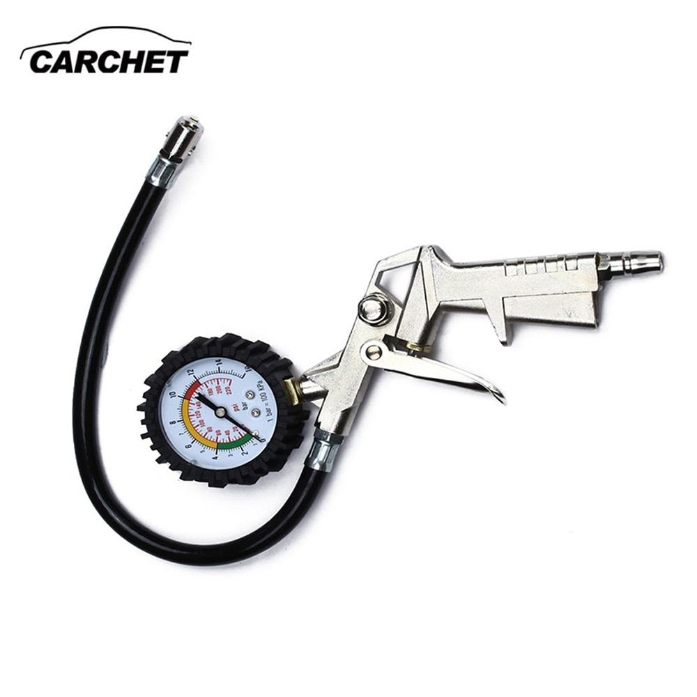 CARCHET Tyre Pressure Air Inflator Gun Diagnostic-tool Tire Inflator With Pressure Gauge Big Size Car Auto for Compressor NEW