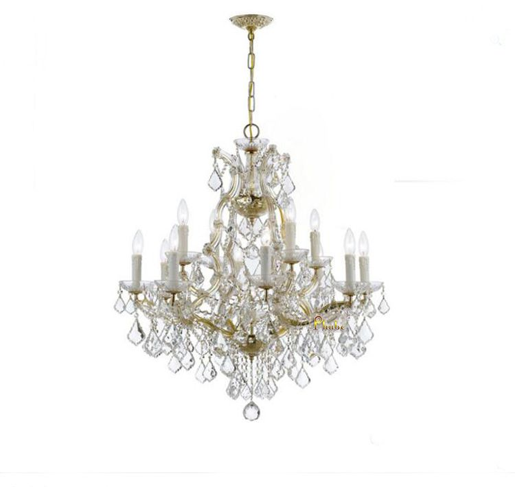Phube Lighting Maria Theresa K9 Crystal Chandelier Lighting Gold/Chrome Chandelier Light Lighting+Free shipping