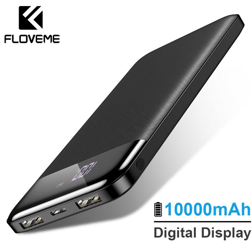 FLOVEME 10000 mAh batterie externe batterie externe chargeur Portable mi Powerbank batterie externe pour iPhone Xiao mi 3 chargeur