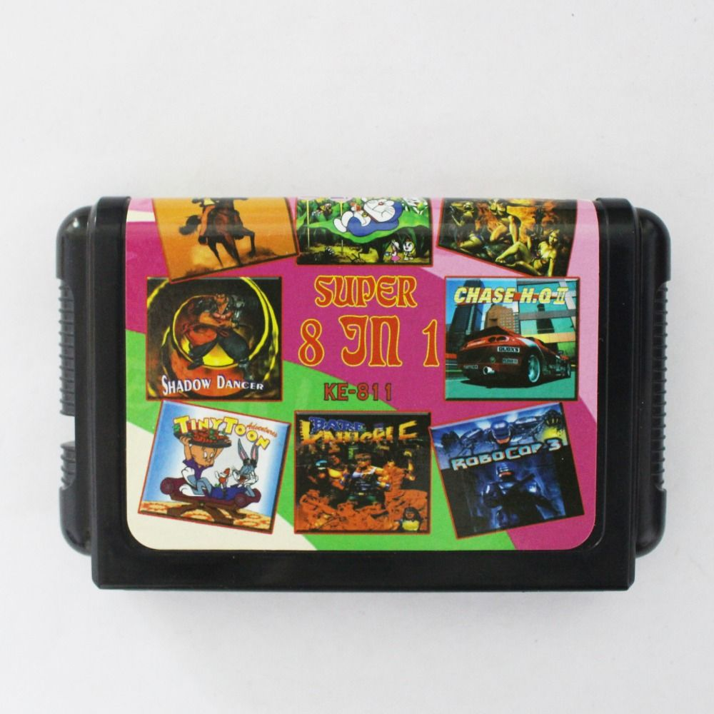 Big Promotion 8 In 1 No Repeated 16 bit MD Game Card For Sega NTSC systems
