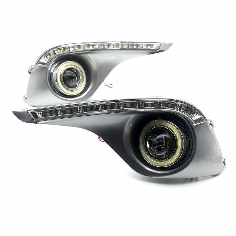 For Toyota Highlander 2012 2013 COB Angel Eyes / LED DRL Daytime Running Lights / Halogen / Xenon Fog Lights / Lens Fog LAMP