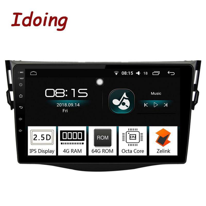 Idoing 9 4g + 64g 8 Core Auto Android8.0 Radio Multimedia Player Fit Toyota RAV4 2007- 2011 2.5D IPS Bildschirm GPS-Navigation Glonass