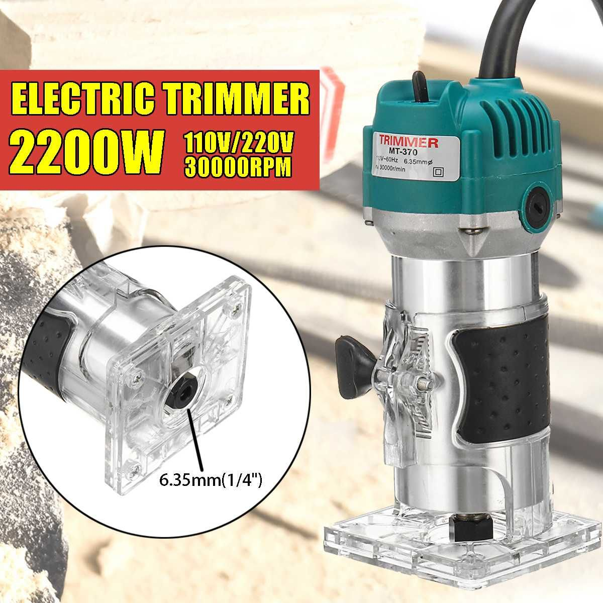 2200 W Elektrische Hand Laminat Rand Trimmer Holz Router 1/4 ''Collet Carving Maschine Zimmerei Holzbearbeitung Power Tools