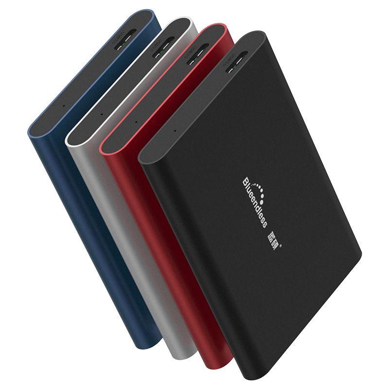 Blueendless Portable disque dur externe 1 to USB3.0 500g HDD pour ordinateur et ordinateur Portable disque dur 2 to périphériques de stockage HD Externo