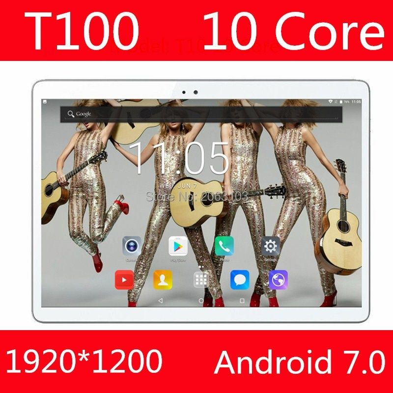 In Lager 100% Original T100 Tablet PC 4 gb RAM 128 gb ROM MediaTek MT6797 10 zoll 6000 mah Android 7.0 GPS 8,0 MP Kamera 4g Wifi