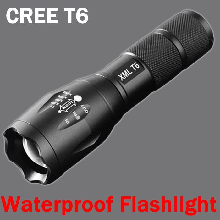 Cree Xm-t6 LED Flashlight 3800lumen Lampe Torche Zoomable Led TorchLinterna Led Flashlights Hiking Camping For 18650/AAA