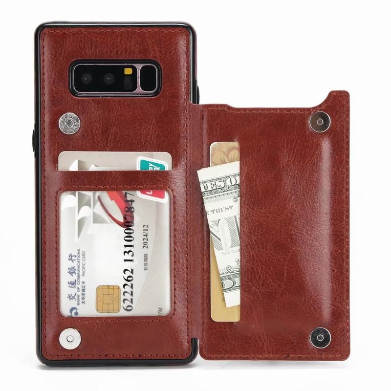 For Coque Samsung Galaxy Note 8 Stand Case Wallet Slot Back Cover For Samsung Note 8 Leather Case With Card Holder Kickstand