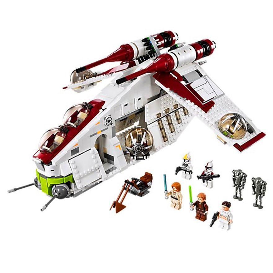 LEPIN 05041 Star Wars The Republic Gunship Model Building Block Toys 1175Pcs Figure Gift For Children Compatible Legoe 75021e