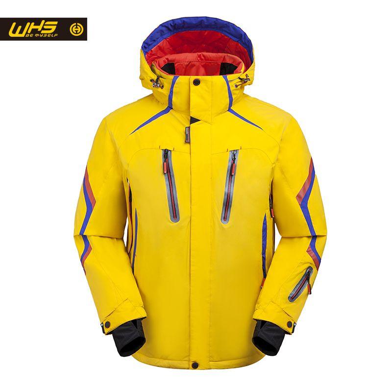 WHS 2018 Neue Ski Jacke männer winddicht warmen mantel männlichen wasserdichte snowboardjacke Outdoor sport kleidung winter Helle farbe