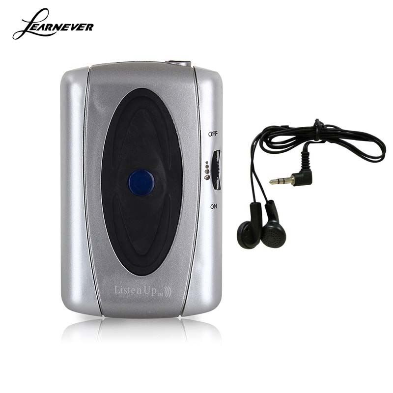 Aide auditive Amplificateur Sonore Portable Les Appareils Auditifs Personnels Soins avec Noir Écouteurs Entendre le Son Voix Dispositif D'écoute ToolHT0191