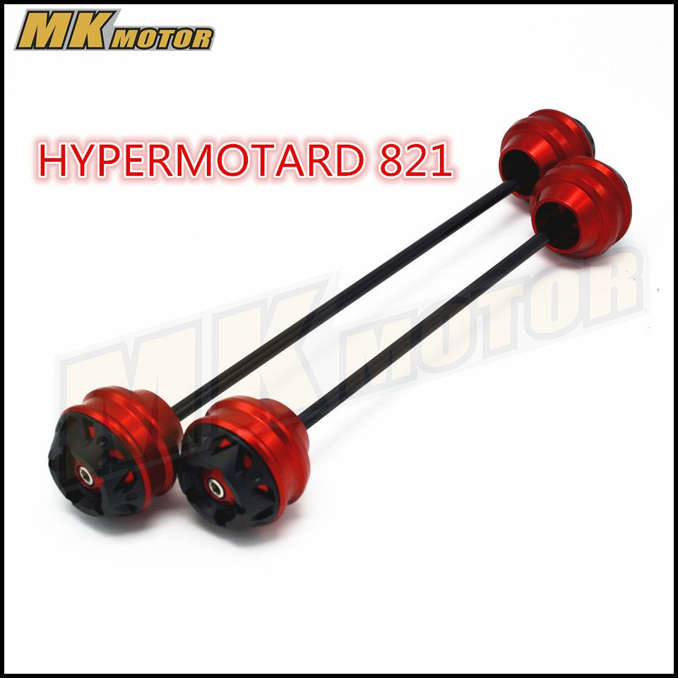 BYSPRINT For DUCATI HYPERMOTARD 821 2013-2015 CNC Modified Motorcycle Front and rear wheels drop ball / shock absorber