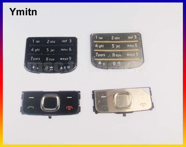 New Black/Silvery/Golden Ymitn Housing Home main menu keypads button cover case For NOKIA 6700 6700C