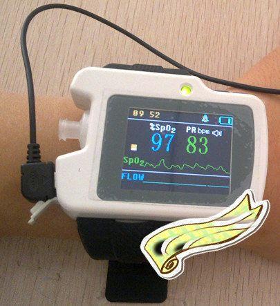 CMS-RS01 Atmung Schlaf Monitor Spo2, Pulsfrequenz, Nase Luftstrom Messen, CONTEC