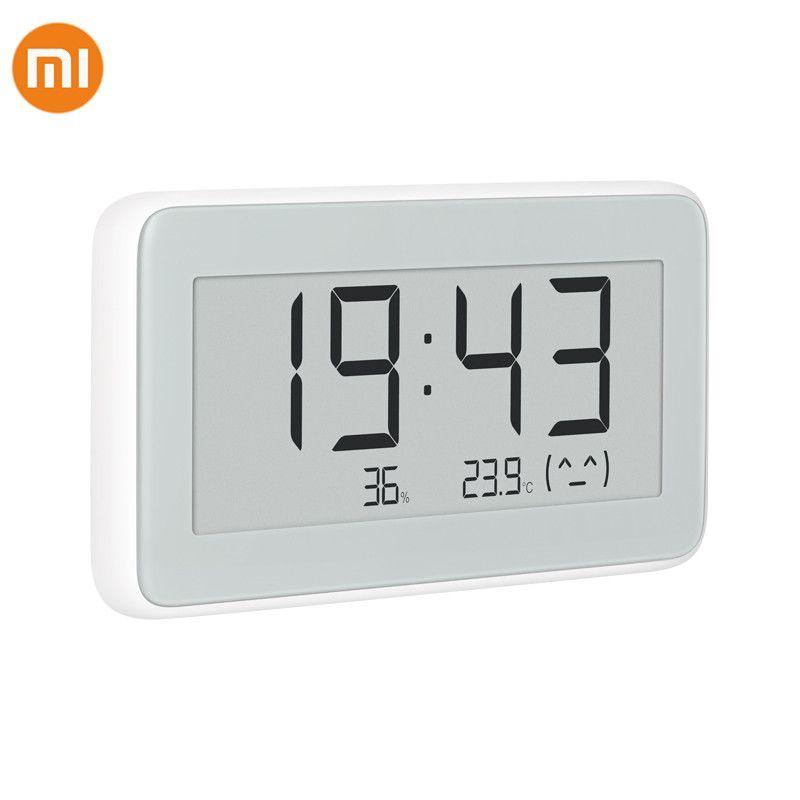 Xiaomi Mijia BT4.0 sans fil Smart électrique horloge numérique intérieur et extérieur hygromètre thermomètre LCD température outils de mesure