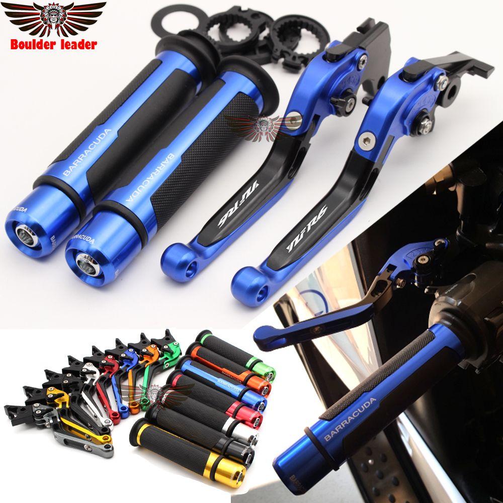 Motorcycle Adjustable Folding Brake Clutch Levers Handlebar Hand Grips For Yamaha YZF R6 YZFR6 1999 2000 2001 2002 2003 2004