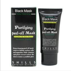 Shills Face Care Black Mud Cleansing Suction Mask Peel Off Facial Skin Mask Nose Blackhead Remover Acne Treatment PILATEN