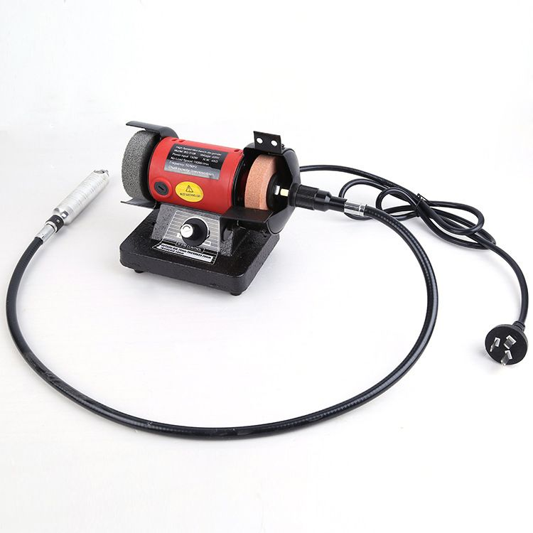 150W Polishing Machine Bench Buffer Polisher Grinder Buffing Wood Chisel Carving Engraving Machines