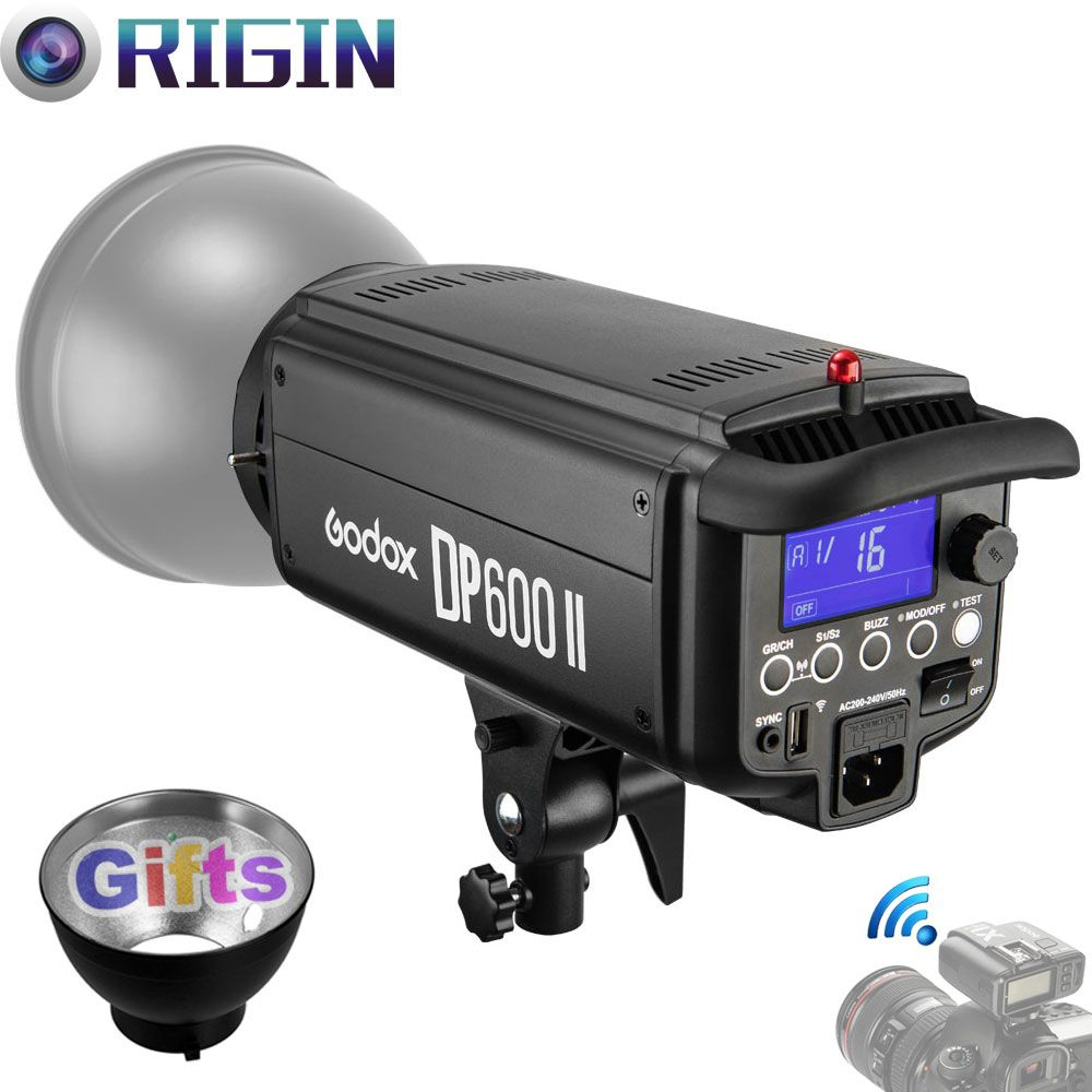 Godox Studio Flash DPII Series DP600II Max Power 600WS GN80 built-in 2.4G Wireless X System with LCD+Bowen mount Standard Cover