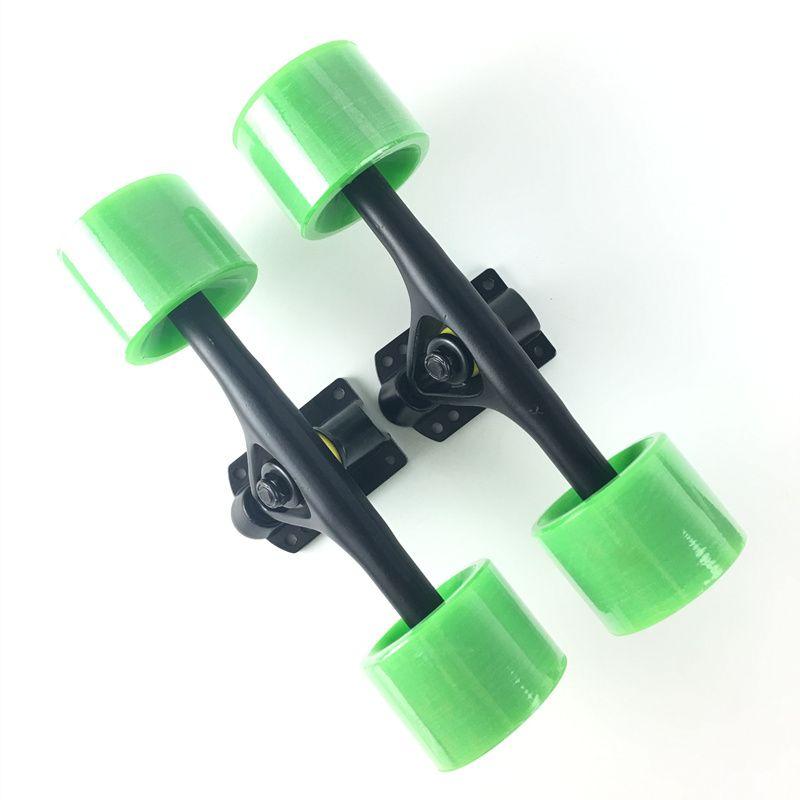 2pcs/Set Skateboard Truck With Skate Wheel Riser Pad ABEC-11 <font><b>Bearing</b></font> Hardware Accessory Installing Tool 5 Color For Skateboard