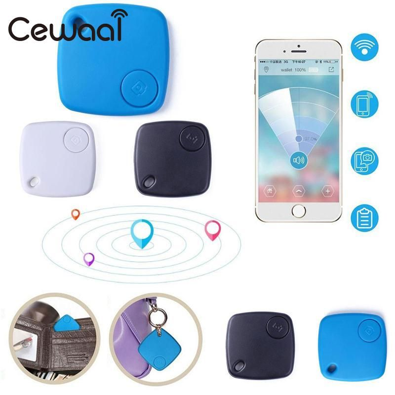 Cewaal For S-1 Mini Smart Bluetooth 4.0 GPS Tracker Locator Pet Child Anti Lost Alarm For Phone Positioning Key Finder