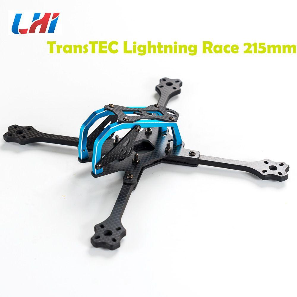 2018 neueste TransTEC für Blitz Rennen 215mm 4mm 3 karat Volle Carbon Faser Rahmen Kit Blau/Splitter für RC Racing Racer Drone Spielzeug DIY