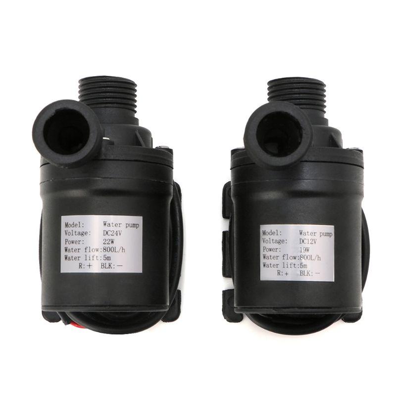 Pompe à eau de Circulation de moteur sans brosse de chauffe-eau solaire de 800L/H 5 m DC 12 V 24 V