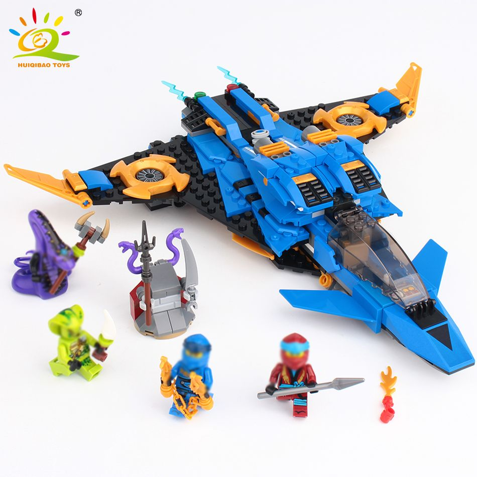 528Pcs Ninja Storm Fighter Model Building Blocks Compatible Legoingly Ninjagoed Jie Warplane Knight Figures Toys For Friend
