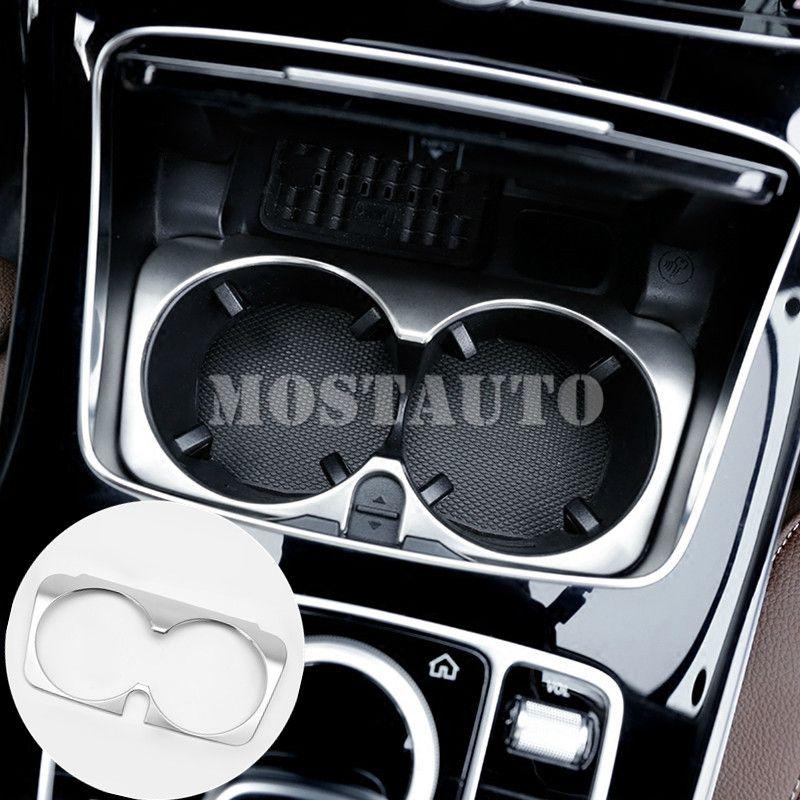 Pour Benz E classe W213 S213 Console intérieure support de verre d'eau garniture de couverture 2017-2018 1 pièces