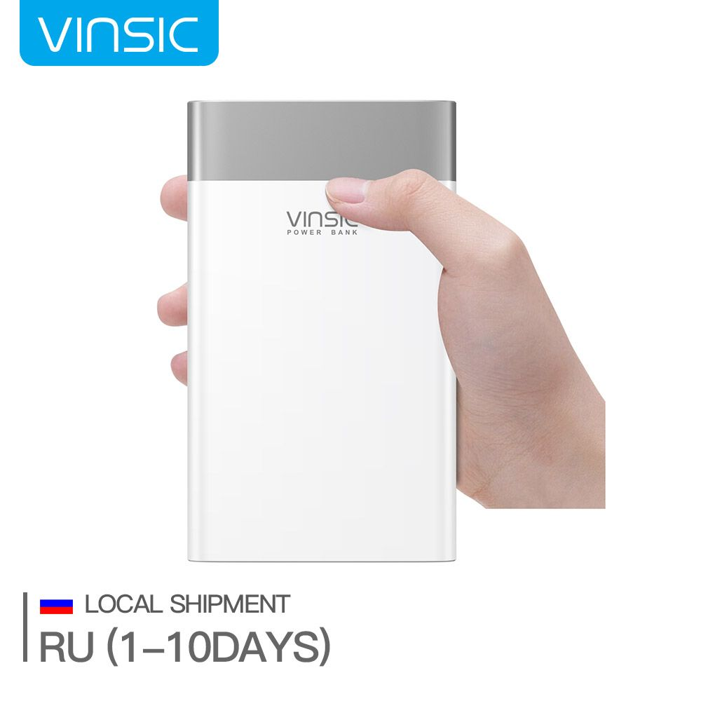 (Ship from Russia) Vinsic P3 20000mAh Quick Charge 3.0 Power Bank QC.3.0 Type-C External Battery Charger for iPhone X Samsung S9
