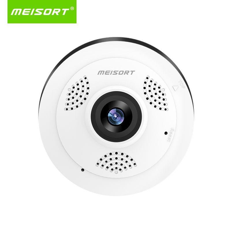Meisort Fisheye VR panoramique mini caméra wifi 960PH réseau sans fil caméra IP sécurité à domicile CCTV Wi-fi 360 degrés